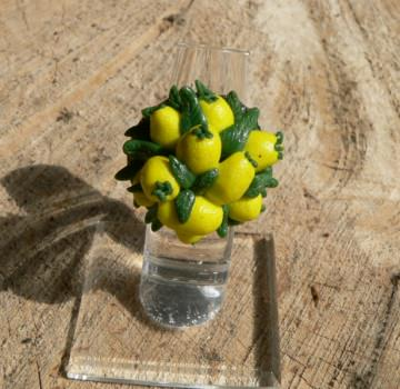 Ring Zitronen handmodelliert aus Modelliermasse Fimo
