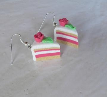 Ohrhänger Marzipantorte Ohrringe aus Fimo handmodelliert Candyschmuck