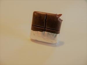 Ring Schokolade aus Fimo handmodelliert  Fingerring aus Polymer Clay