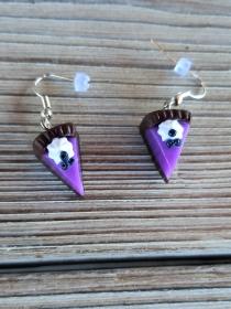 Ohrhänger Heidelbeerorte Ohrringe aus Fimo handmodelliert Candyschmuck aus Polymer Clay - Handarbeit kaufen