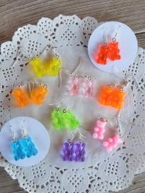 Ohrhänger Ohrringe bunte Süßigkeiten witziger Ohrschmuck Gummibären  - Handarbeit kaufen