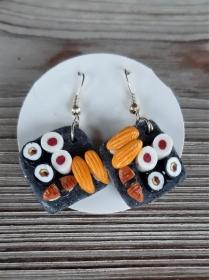Ohrhänger Ohrschmuck Sushi modelliert originelle Ohrringe aus Polymerclay  - Handarbeit kaufen
