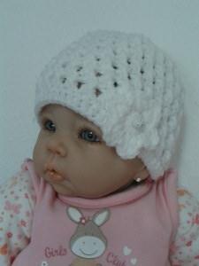 Babymütze Erstlingsmütze Neugeborenenmütze Weiß