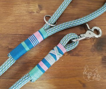 Klettertau-Leine ★Classic★ 1,20m // Blau--Mint-Lavendel