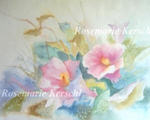 Original Aquarell ♡Sommerwinde♡ 42 x 56 cm handgemalt ♡ Galerie Kerschl
