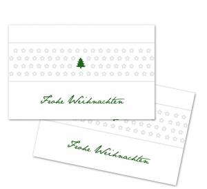 25 Danke-Karten, Geschenkanhänger, Weihnachtskarte, Weihnachten, 85x55 mm, Digitaldruck, V7