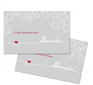 25 Danke-Karten, Geschenkanhänger, Weihnachtskarte, Weihnachten, 85x55 mm, Digitaldruck, V6
