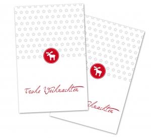 25 Danke-Karten, Geschenkanhänger, Weihnachtskarte, Weihnachten, 85x55 mm, Digitaldruck, V8
