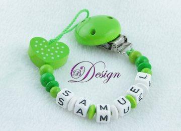 ♡_♡ Schnullerkette mit Namen ♡_♡ Herzen ♡_♡ handgefertigt