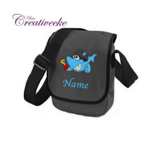 ♡_♡ Kindertasche*Kita Tasche ♡ grau ♡ mit Namen + Wunschmotiv ♡_♡ - Handarbeit kaufen