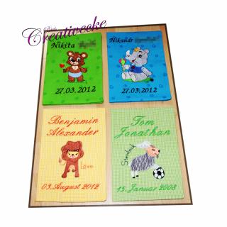 ♡ U-Heft Schutzumschlag mit Namen und Wunschmotiv ♡ handgefertigt mit Stickerei