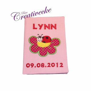 ♡ U-Heft Schutzumschlag mit Namen ♡ handgefertigt mit Stickerei
