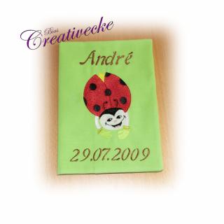 ♡ U-Heft Schutzumschlag ♡ mit Namen ♡ handgefertigt mit Stickerei