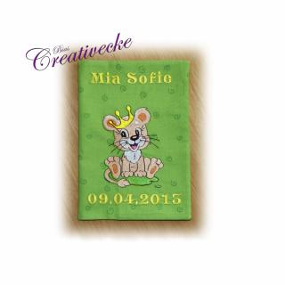♡ U-Heft Schutzumschlag mit Namen ♡ handgefertigt mit Stickerei  - Handarbeit kaufen