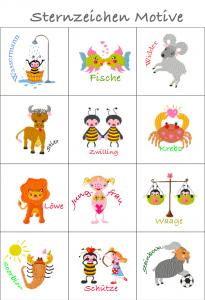 ♡::::Auswahl Sternzeichen Motive Stickerei für U Heft Hülle aus meinem Shop ::::♡ BITTE NICHT KAUFEN!!!