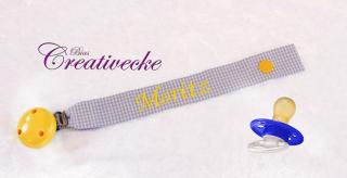 ♡_♡ Schnullerband ♡ mit Namen bestickt ♡_♡