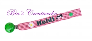 ♡_♡ Schnullerband ♡ mit Namen ♡ und Motive deiner Wahl bestickt♡_♡ - Handarbeit kaufen
