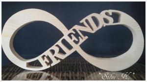 Unendlichkeitszeichen L:35cm Friends naturbelassenes Fichtenholz