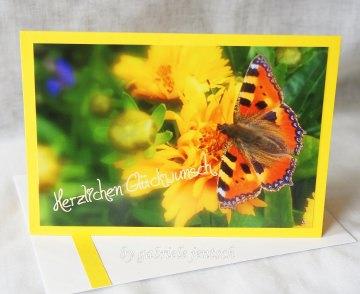 Geburtstagskarte Karte zum Geburtstag Schmetterling