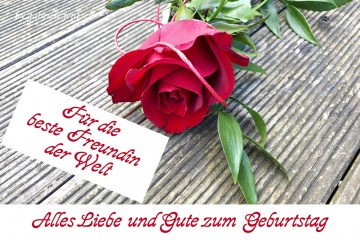 Geburtstagskarte Karte zum Geburtstag Rose beste Freundin