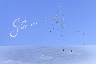 Hochzeitskarte Karte Hochzeit Vermählung Luftballons ©