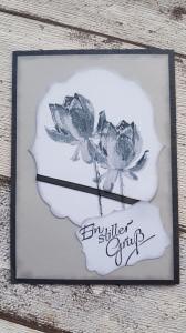 Trauerkarte Rosenmotiv  - Ein stiller Gruß - zwei Verschiedene Ausführungen