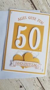 Goldene Hochzeit - 50 Jahre verheiratet - Alles Gute zum 50. Hochzeitstag mit 3D Effekt