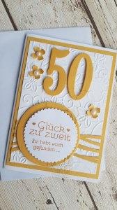 Goldene Hochzeit - 50 Jahre verheiratet - Glück zu Zweit - Ihr habt euch gefunden