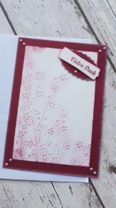 Geprägte Blumen und in chilli-rot - Danke sagen mit Stil