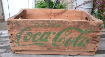 Original Coca Cola Transportkiste USA aus den 50er - - Handarbeit kaufen