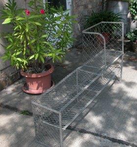 Metallregal um 1910 für Garten/Küche oder Balkon,Originalzustand im Shabby Chic,stammt aus Bayer. - Handarbeit kaufen