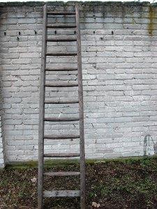 Schwere Gerüstbauleiter DDR 50er Jahre,super Zustand