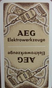 Kartenspiel AEG Elektrowerkzeuge,31 Karten von Altenburger Spielkarten - Handarbeit kaufen