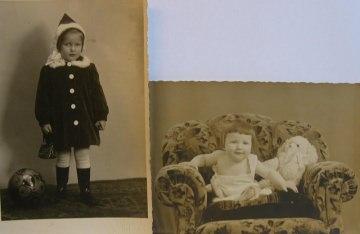 Kinder,Kinder wie die Zeit vergeht,2 Fotos Klein Ingrid