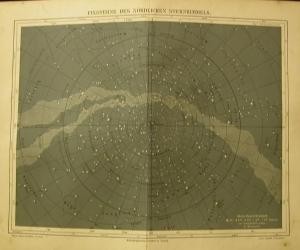 1897 Original Farblithographie- Fixsterne des Nördlichen Sternhimmels