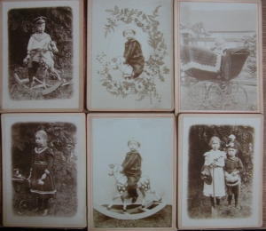 6 Kinderfotos vom 16.7.1902