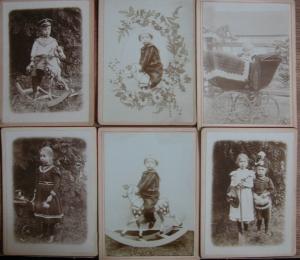 6 Kinderfotos vom 16.7.1902  - Handarbeit kaufen