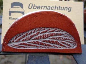 Visitenkartenständer, Zettelhalter, Einzelstück, aus Keramik