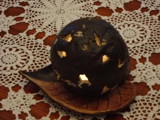 keramikwindlicht Kugel und Blatt - Handarbeit kaufen