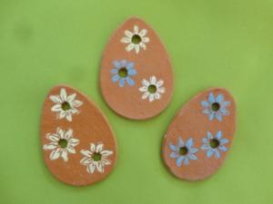 Keramikeier mit Durchblick, 3er-Set, Blüteneier - Handarbeit kaufen