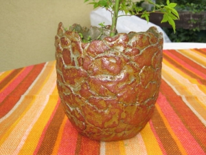 Übertopf gepatcht, Keramiktopf, Blumentopf - Handarbeit kaufen