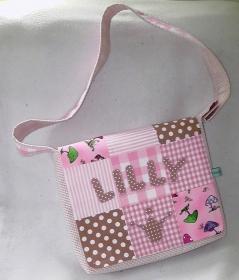 Patchwork Kindergartentasche mit Namen+Applikation