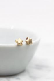 Ohrringe vergoldet Sterne