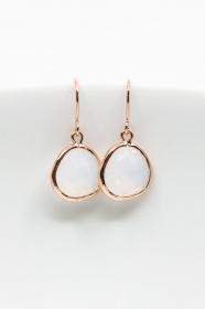 Ohrringe Rosegold Opal