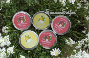 Grüner Apfel Lippenbalsam Lipbalm Lippenpflege handgemacht gern auch vegan