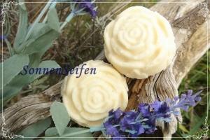 Schäumende Dusch-Salzblume Lavendel handgemacht vegan