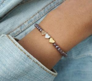 Armband mit 3 Herzen