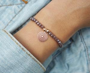 Armband mit mandala Roségold
