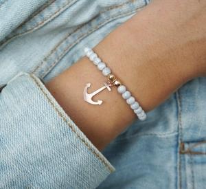 Armband mit anker Roségold