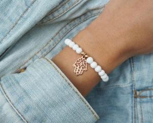 Hand der fatima Armband mit Glasperlen